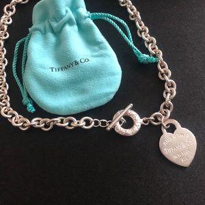 Tiffany heart tag choker.